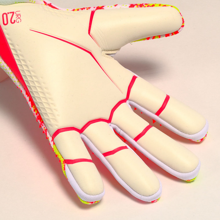 adidas PREDATOR UNIFORIA PRO Junior Goalkeeper Gloves White/Pop