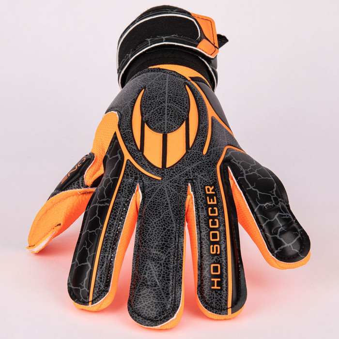 HO Soccer One Negative Robust Orange Shadow Junior Goalkeeper Gloves