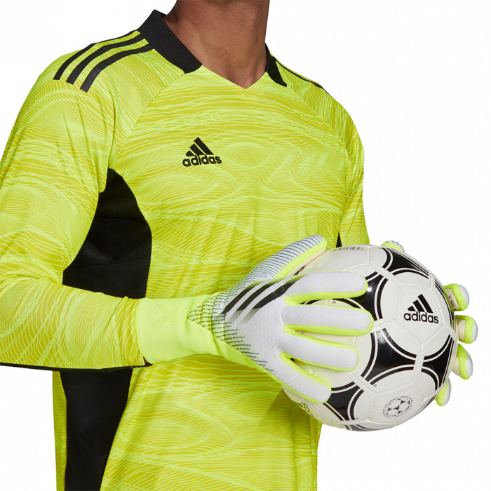 adidas X GL PRO JUNIOR Goalkeeper Gloves Solar Yellow/White
