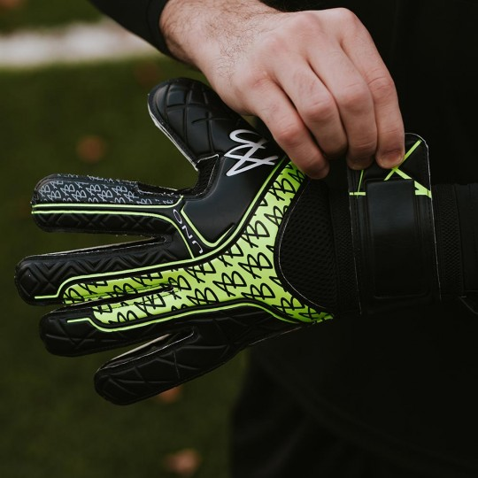 AB1 Impact UNO Black VOLT Goalkeeper Gloves