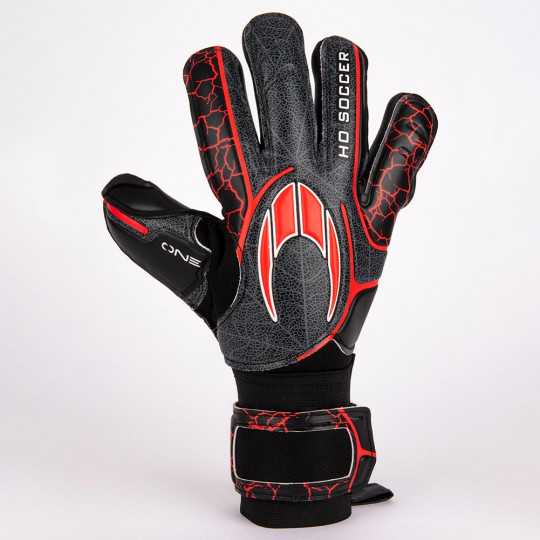 HO SOCCER ONE NEGATIVE Goalkeeper Gloves Black/Red
