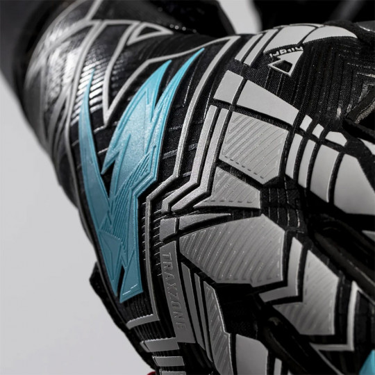 Kaliaaer PWRLITE ILLUMINATE Roll Goalkeeper Gloves Black/Solar Blue