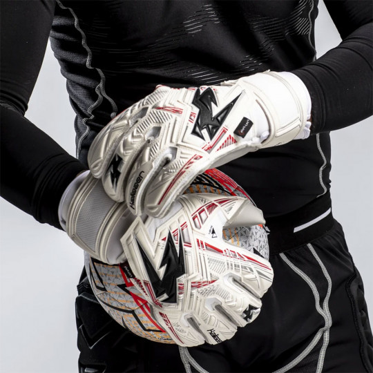 Kaliaaer SHOKLOCK ICONIC ROLL JUNIOR Goalkeeper Gloves White