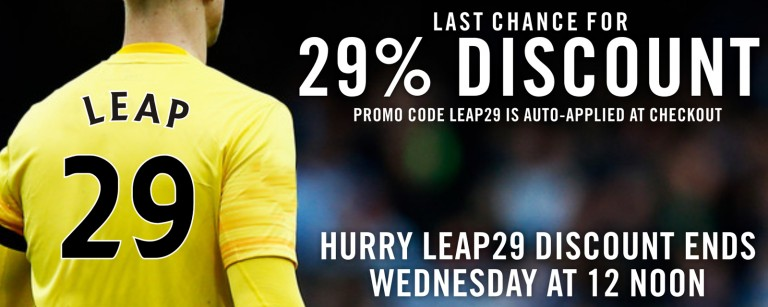 LEAP YEAR SPECIAL 29% OFF