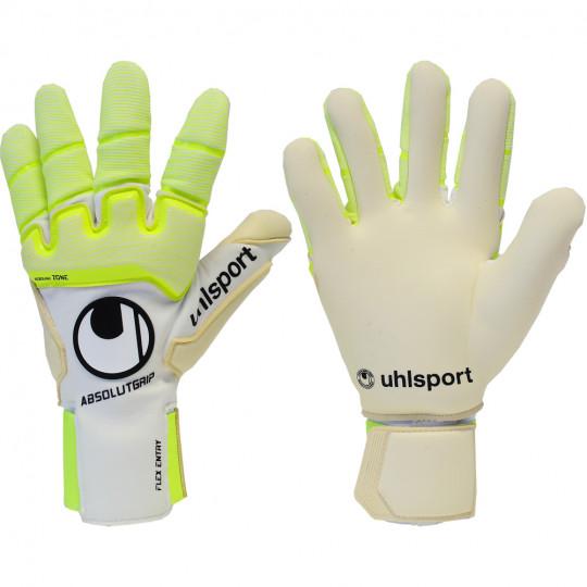 """Goalie gloves soccer uhlsport fanghand supersoft/"""" /""""nine goal 100022701"""