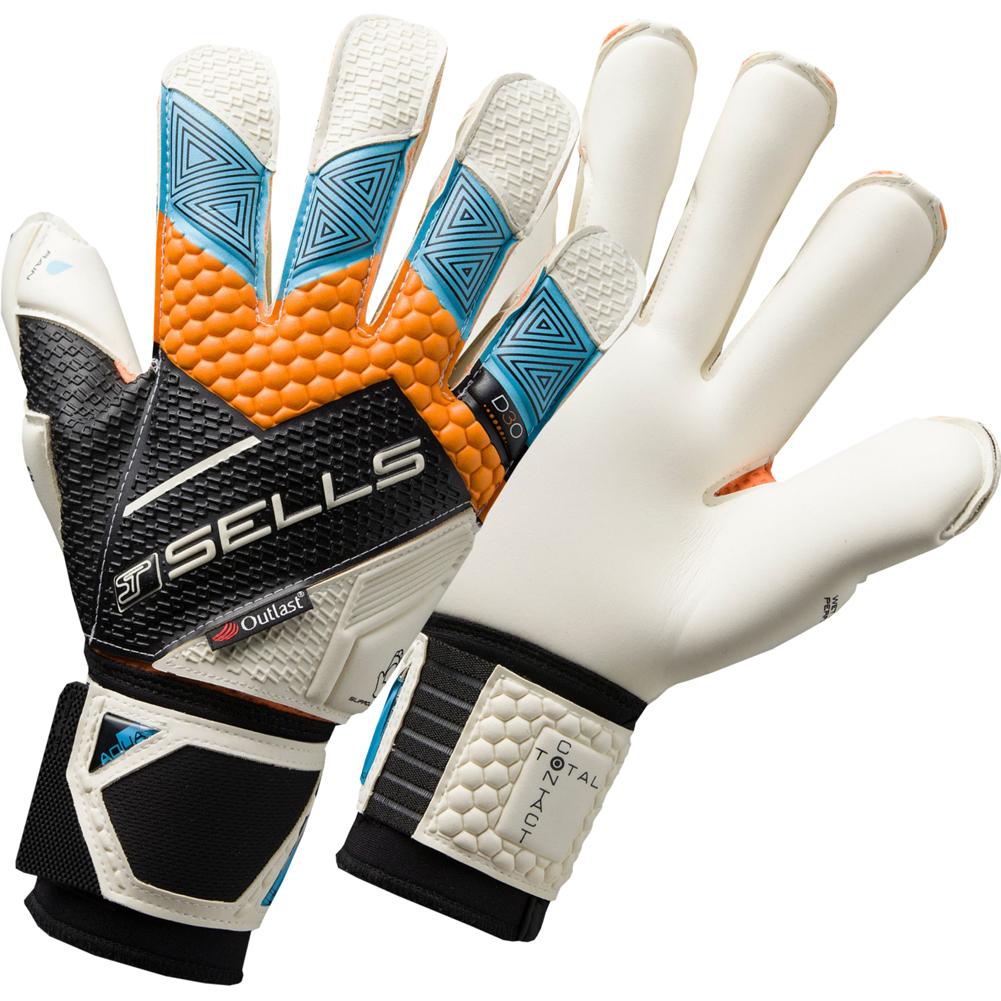 SELLS TOTAL CONTACT ELITE AQUA JUNIOR Goalkeeper Gloves  0124706a33e2