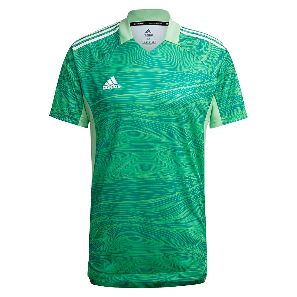 GT8429 adidas CONDIVO 21 GoalKeeper Jersey SS semi solar lime - Just Keepers